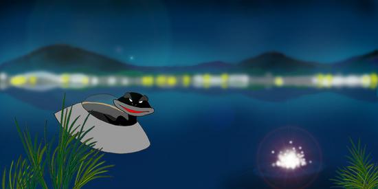 夜のカエル沼 c.jpg