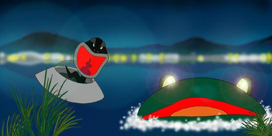夜のカエル沼 d.jpg